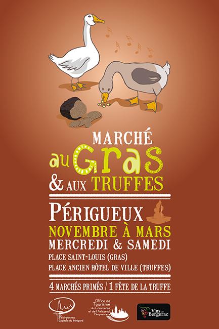 Marché au Gras et aux Truffes affiche 2014