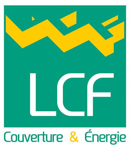 Conception du logo de la société LCF couverture & énergie