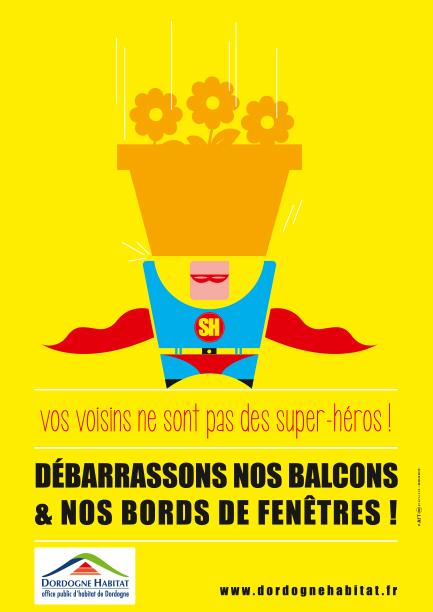 Affiche thématique pour Dordogne Habitat