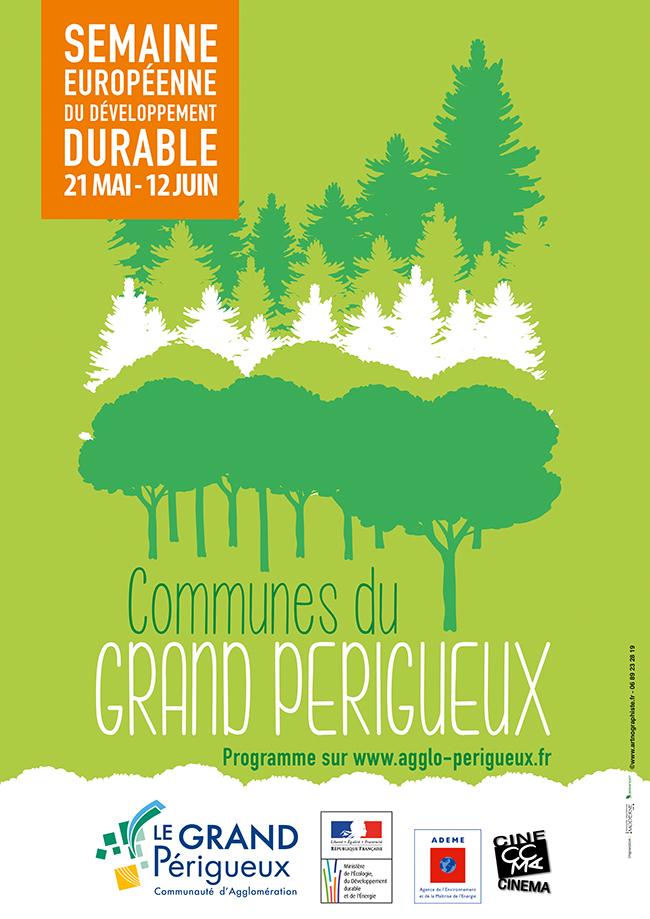 Affiche semaine du développement durable du Grand Périgueux