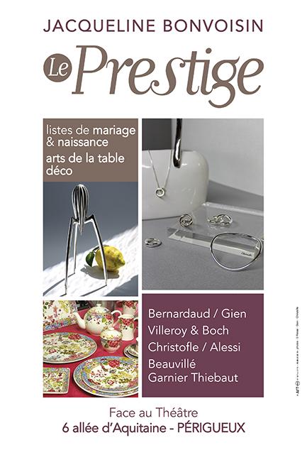 Affiche boutique Le Prestige - Périgueux