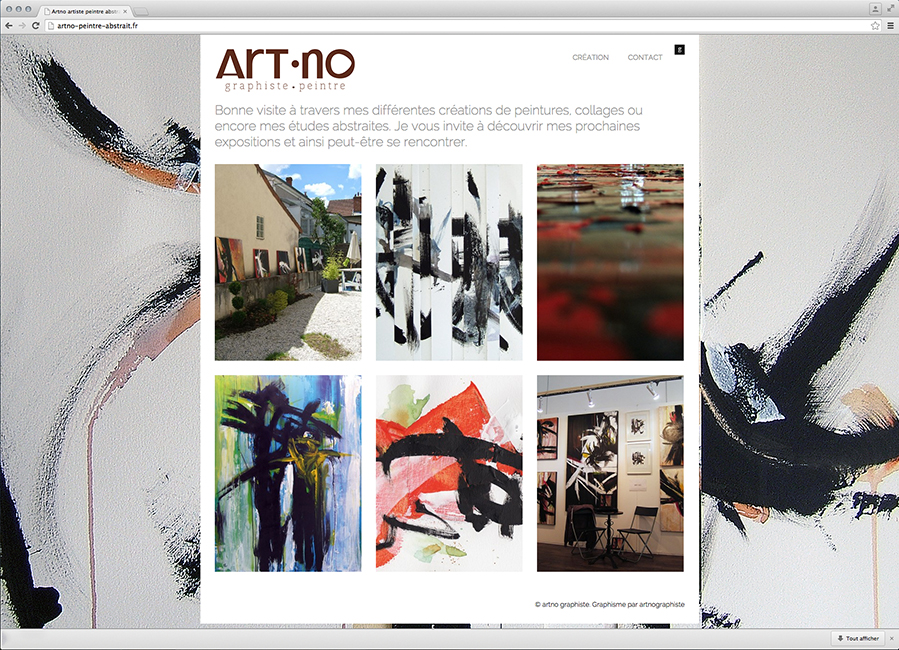 Site web Artno peintre abstrait