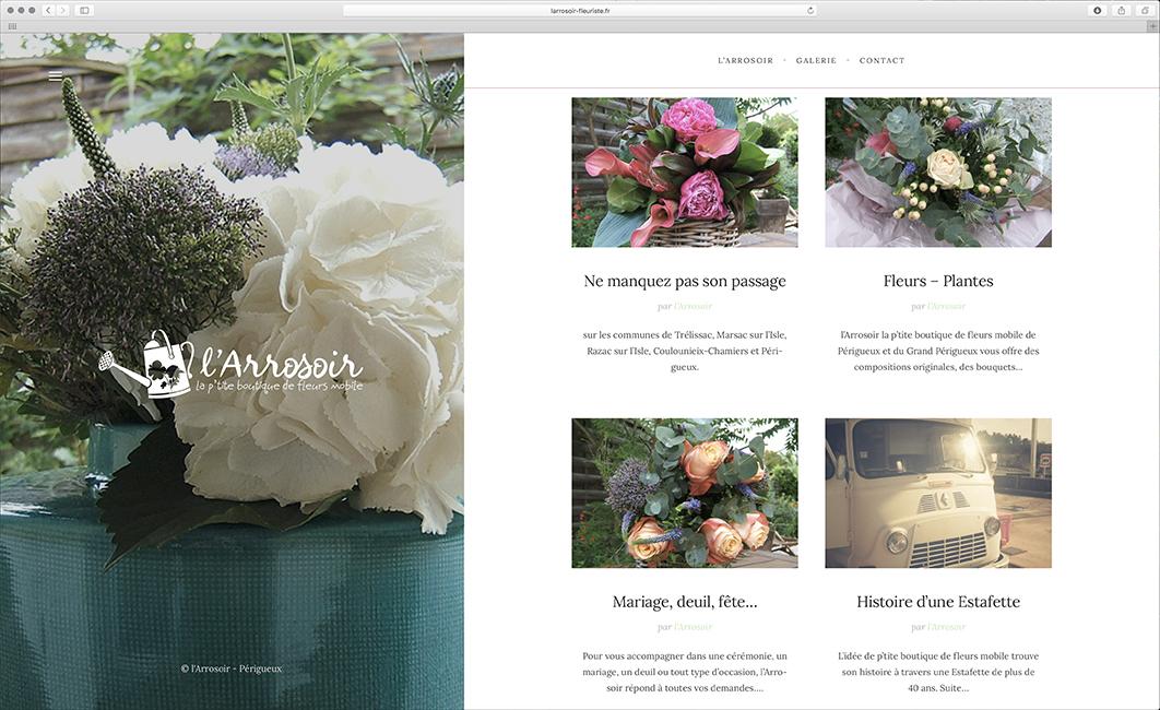 site web fleuriste Périgueux, l'Arrosoir